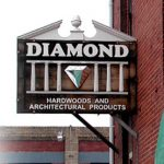 diamond hardwoods sign