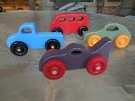 four small cars
